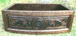 Copper Farmhouse Kitchen Sink 33x22x10 Hammered Handmade