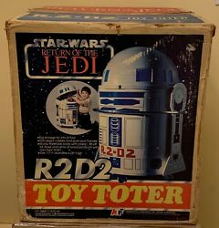 Vintage Star Wars R2-d2 Toy Totter Unused In Photo Box Rotj 1983