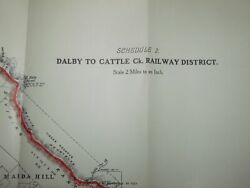 Dalby To Cattle Ck Railway District Bell Branch Queensland Government Map 1916