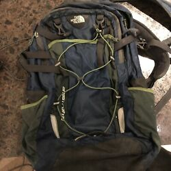 Blue Green Grey Northface Backpack $30.00