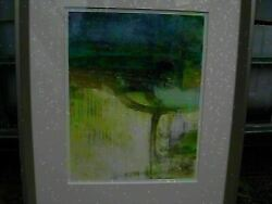 Soicher Marin Abstract Painting Art 375 Ed Harni Framed Matted 17x21 53e4
