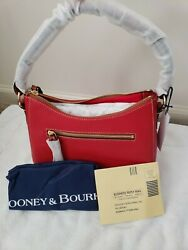 NWT Dooney amp; Bourke Small Kiley Pebble Leather Hobo Red Reg card and dust cover $150.00