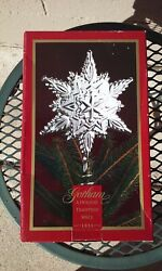 Gorham Silver Plate Snowflake Christmas Tree Topper Ornament 1999 In Box Nos 2