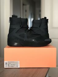 NEW DS Nike Air Fear of God 1 Triple Black AR4237 005 Men#x27;s sz 9 FOG