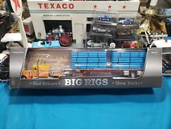 Dcp -kelsey Trucking Peterbilt 359/fountain Flat Bed Trailer With Pipe 67-0700