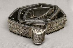 Rare Antique Imperial Russian Sterling Silver 84 Buckle Belt Signed 495 Gr