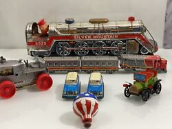 Vtg Marx And Other Tin Toy Lot West Germany Japan Train Wind Up Tractor