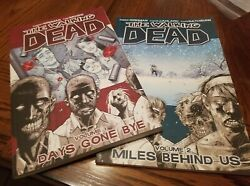 The Walking Dead Days Gone Bye Volume 1 And Miles Behind Us Volume 2 Book Lot