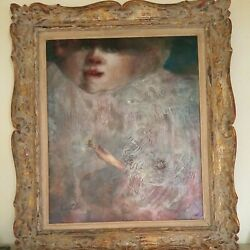 Splendid Joan Erbe The Baby Oil Painting One Of A Kind
