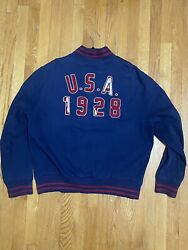 Vintage 1990andrsquos Polo 1928 Olympic Games Varsity Jacket