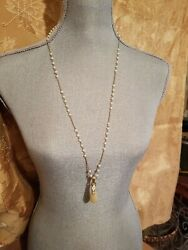 Nolan Miller Glamour Collection Vienna Pendant Necklace Vintage New Pearls