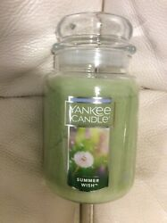Yankee Candle Summer Wish Large Jar 22oz NEW Green Floral Fresh Fields
