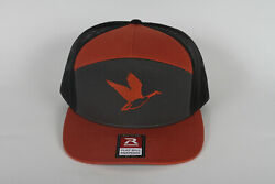 Flying Canadian Goose Embroidered On A Richardson 168 Trucker Snapback Hat