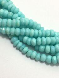 165 Cts Peruvian Opal Faceted Rondelle Gemstone Beads 6 To 9 Mm 19
