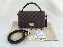 Authentic Louis Vuitton Croisette Damier Ebene Crossbody Bag   IMMACULATE $1600.00