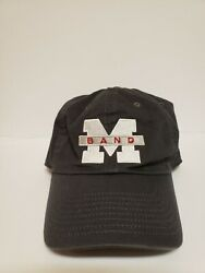 Michigan Wolverines Marching Band Hat Cap Gray Nike Heritage86 Adjustable Strap