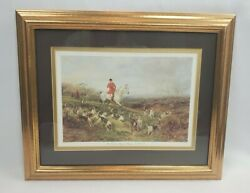 Vintage Framed/matted The Find Heywood Hardy Equestrian Fox Hunt Horse Decor