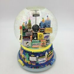 Musical Snow Globe Auld Lang Syne Broadway Cares Twin Towers New York City 2000