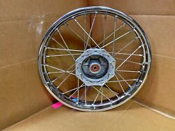 Klx110 / Drz Front Wheel Assembly Complete Wheel Hub Spokes Rim Laced And Trued
