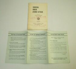 Berkeley Ca Civil Defense Corps Survival Under Nuclear Attack Atomic Age Booklet