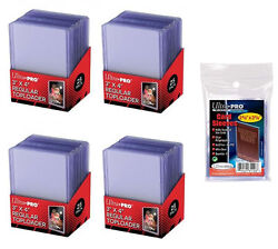 100 Ultra Pro Regular 3x4 Toploaders 100 soft sleeves New Top loaders $19.95