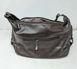 CLEARANCE Beautiful Leather Hobo Bag Coffee Shoulder Strap 12quot; x 8quot; x 4quot; $9.95