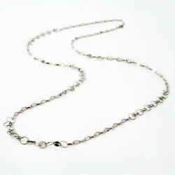 Pt850 Solid Platinum 9.3g Pedal And Loop Combination Long Size Necklace 31.5