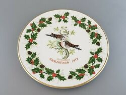Excellent 1977 Second Edition Royal Grafton 12 Days Of Christmas Plate
