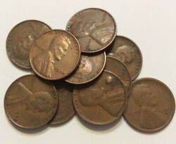 10 1930 Unsearched Lincoln Wheat One Cent Pennies Penny Lot Estate Find