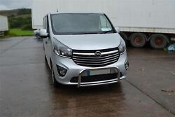 To Fit 2014 - 2019 Vauxhall Opel Vivaro Bull Bar Nudge Chin Low Abar Stainless