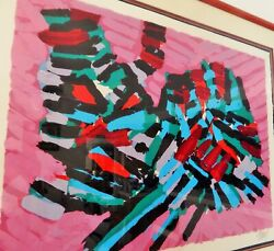 About A Cat Limited Edition Lithograph Karel Appel Signed Artist Proof