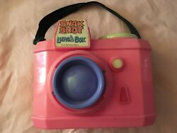Vintage Rare 1988 Snak Shot Neon Pink Camera Lunch Box W/ Thermos Hummer Design
