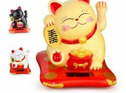 Lucky Wealth Waving Cat Gold Waving Hand Cat Home Decor Welcome Statue