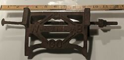 Antique Stove Part Advertising Wood Bishop And Co. Old Cast Iron W. B. And Co. Usa