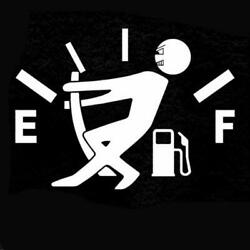 New Funny Car Stickers High Gas Consumption Decal Fuel Gage Empty Stickers Vinyl