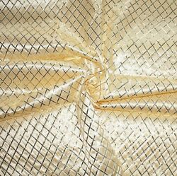 Golden Art Silk Gota Lace Fabric By the Yard for Party Decor Clutches Bags $10.99