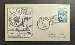 1934 Uss Bass Submarine Navy Cover To Boyertown Pa Navy Day Cancel