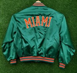Vtg Miami Hurricanes Satin Jacket Xl Made In Usa Swingster 2 Live Crew Rap 90s
