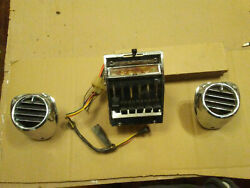 57 1957 Chevy Car Air Conditioning Heater Control Dash Chrome Side Vents Ac A/c