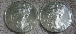 Lot 2 2020 American Silver Eagle 1 Oz Coin 1 Dollar From Us Mint Sealed Roll Bu