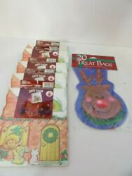 Vintage Strawberry Shortcake Christmas Gift Boxes Lot Of 5 Small And 20 Treat Bags