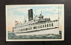 Vintage Steamer Monmouth Crr Of Nj Picture Postcard
