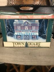 Coca-cola Town Square Gilbert's Grocery Store Lighted Christmas Village 1992
