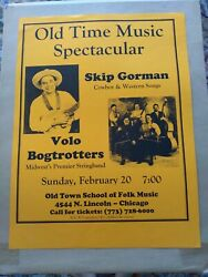 Skip Gorman And Volo Bogtrotters Poster Chicago Old Town School Of Folk