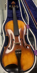 Johann Georg Kessler 4/4 Violin With Case And Bow West Germany. Andldquobrunoandrdquo