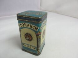 Vintage Advertising Monarch Cocoa Sample Tin Beautiful Collectible S-1095