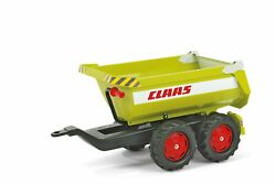 Rolly 12/221/9 Giant Half-pipe Claas Twin Axle Trailer Green