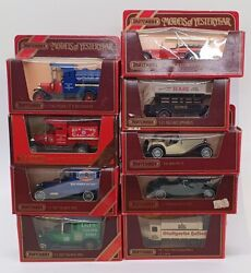 Matchbox Models Of Yesteryear Mbse09 - Set Of 9 Diecast Cars And
