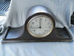 Vintage Ansonia Mantle Clock With Key Estate Find Parts