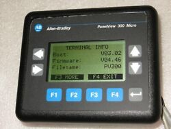 Allen Bradley 2711-m3a18l1/a Panelview 300 Df1 Key Frn4.46 Nice Used Tested